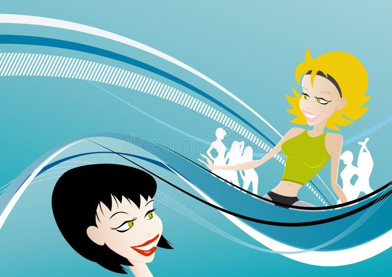 Party girl illustration vector illustration