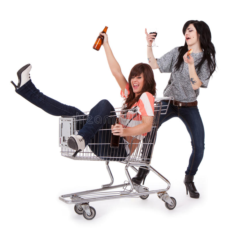 Party girls stock images