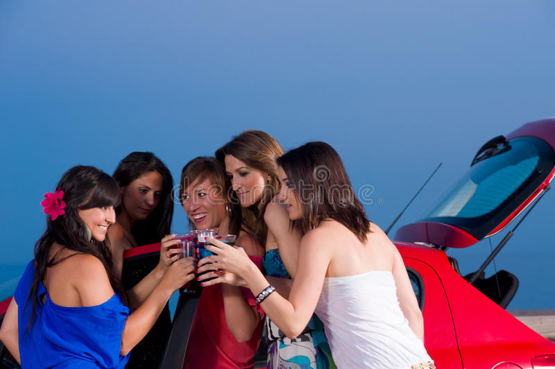 Download Party girls stock image. Image of rave, night, summer - 19863313