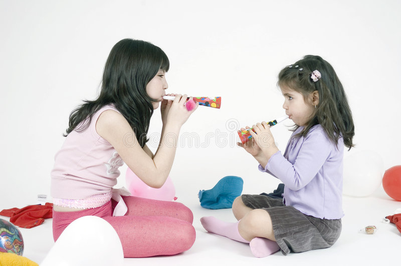 Party girls royalty free stock images