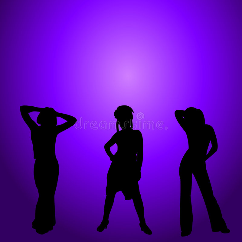Party girls at night royalty free stock photo