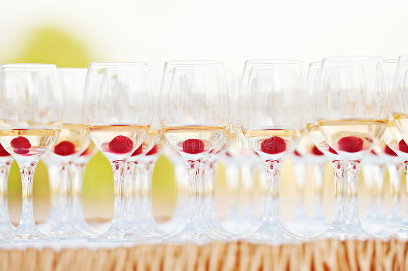 Party glasses royalty free stock image