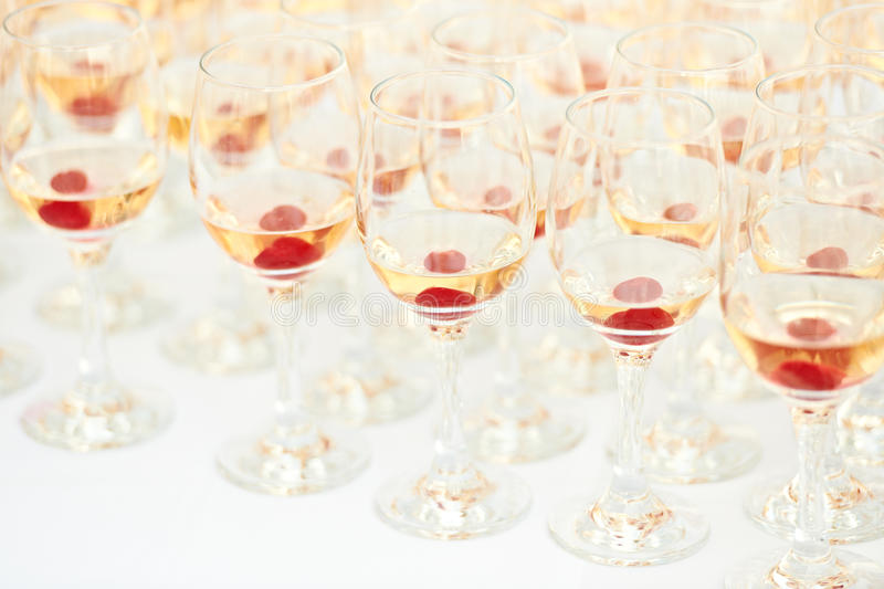 Party glasses royalty free stock photography