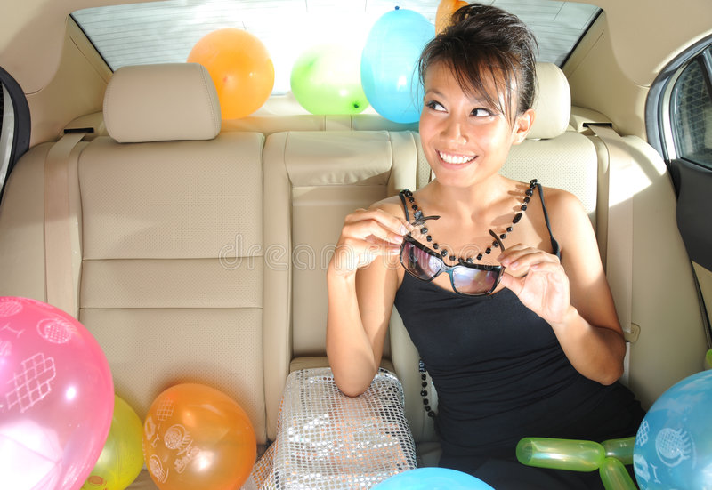 Download Party On The Go stock photo. Image of lady, asian, card - 7112782