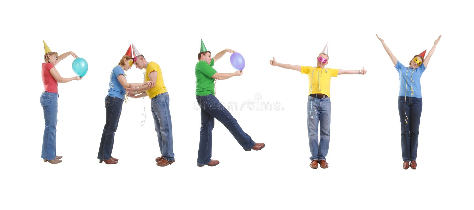 Party group stock photography