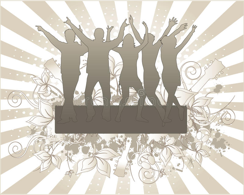 Party- Grunge Background Royalty Free Stock Photos