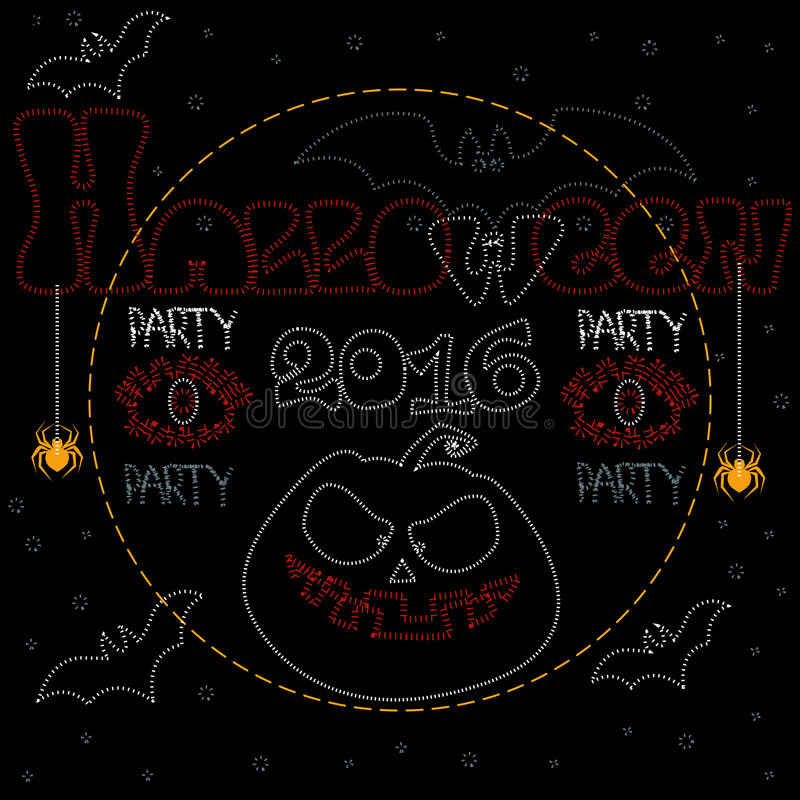 Party Halloween 2016 royalty free illustration