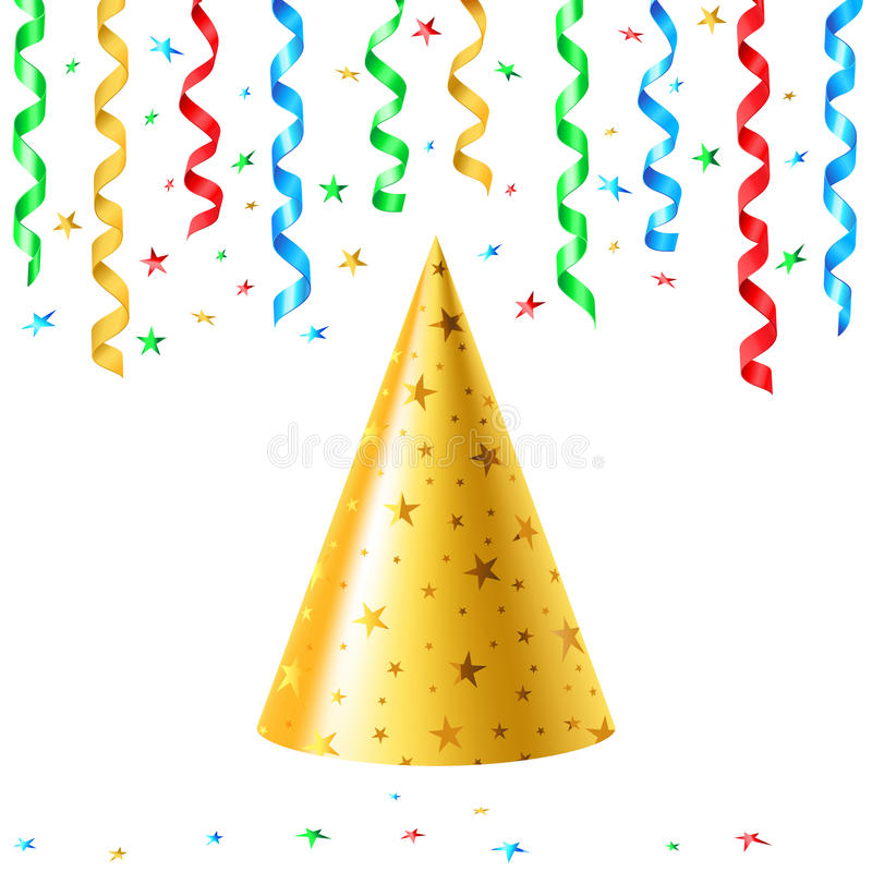 Download Party hat stock vector. Image of paper, streamer, green - 10499962
