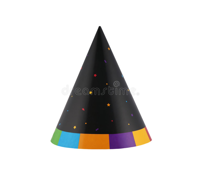 Party hat 14. Colorful over the hill birthday party hat stock photos