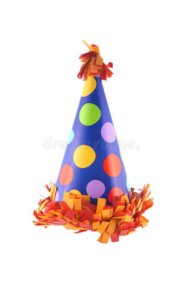 Party hat 2. Birthday or New Year's Eve party hat royalty free stock photos