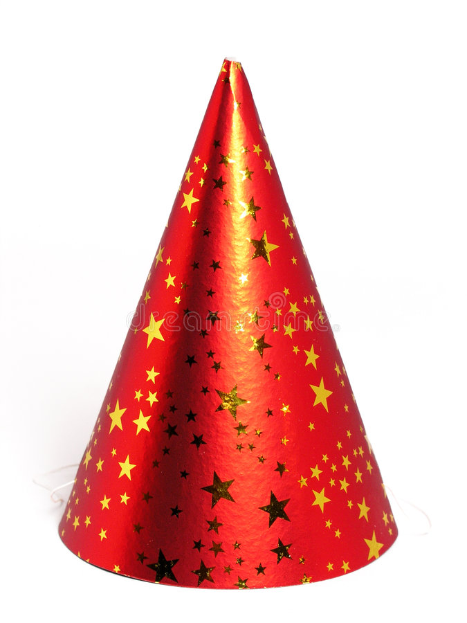Party Hat. Red Party Hat - isolated stock image