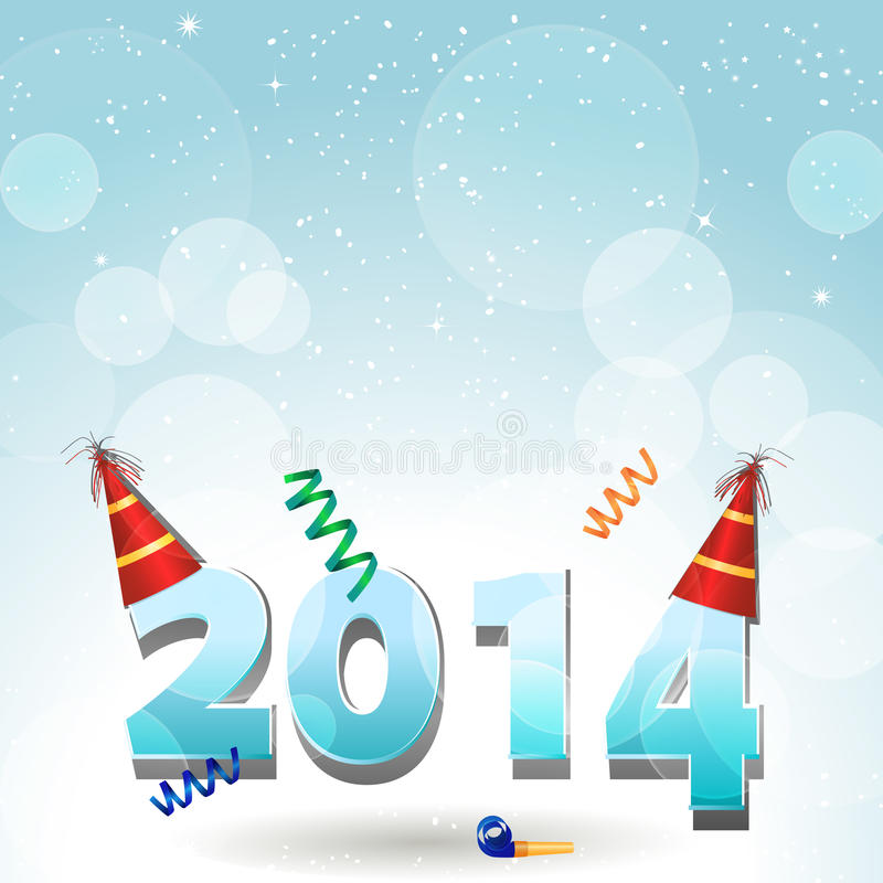 2014 party hat background royalty free illustration