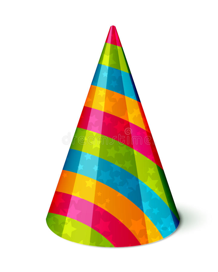 party hat stock vector illustration of costume party 33506269 rh dreamstime com party hat vector icon party hat vector template