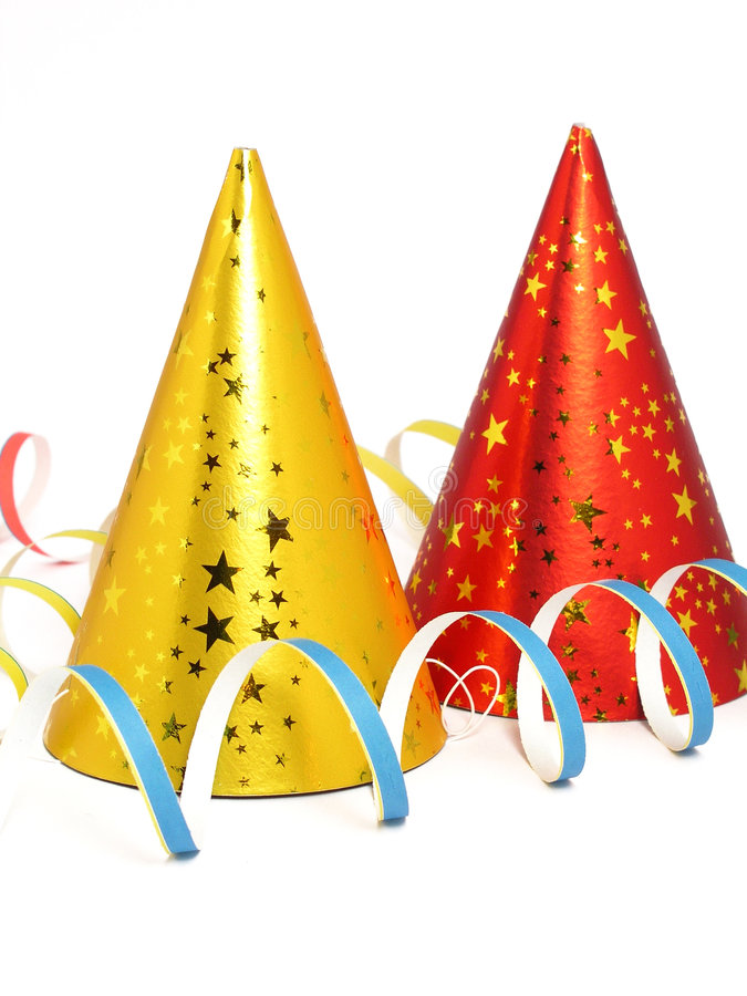 Download Party Hats stock photo. Image of years, gold, celebrating - 249614