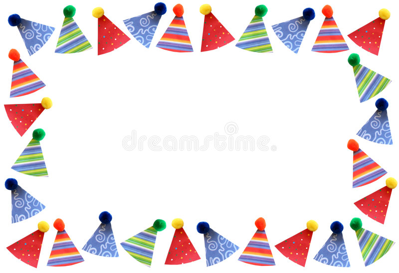 Download Party Hats Frame Stock Photo - Image: 2105720