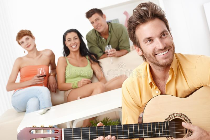 Download Party At Home With Guitar Music Stock Image - Image: 22398717