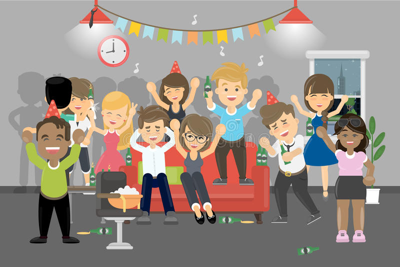 Party at home. vector illustration