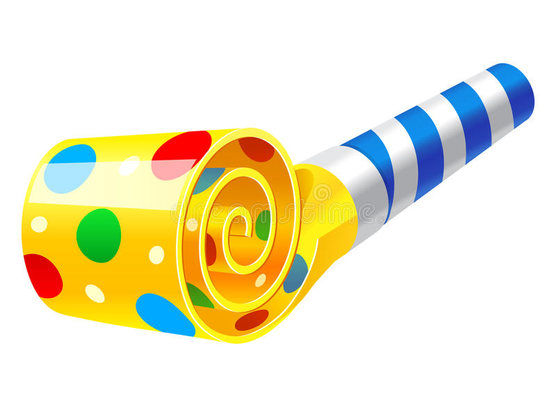 Party Horn Blower royalty free illustration
