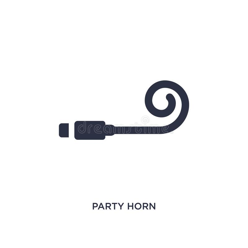 party horn icon on white background. Simple element illustration from birthday party and wedding concept stock illustration