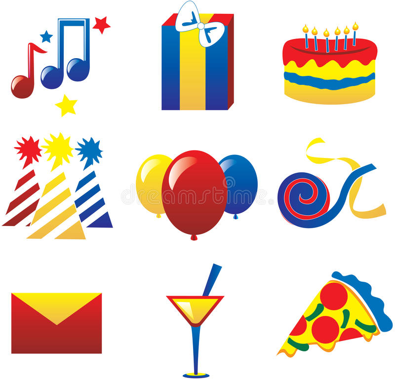 Download Party Icons 2 stock vector. Illustration of food, internet - 11898303