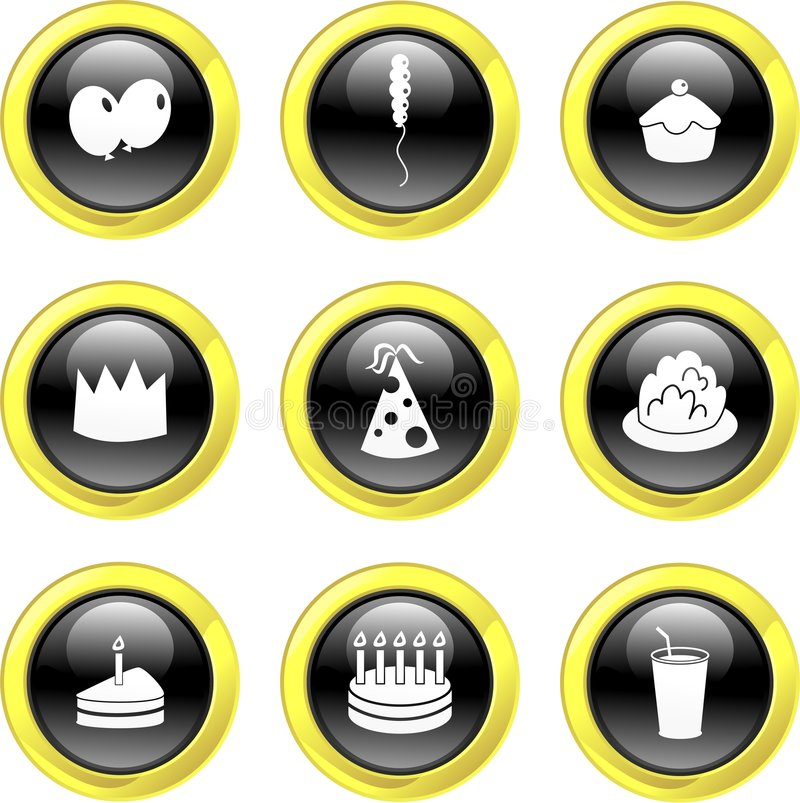 Party icons stock illustration