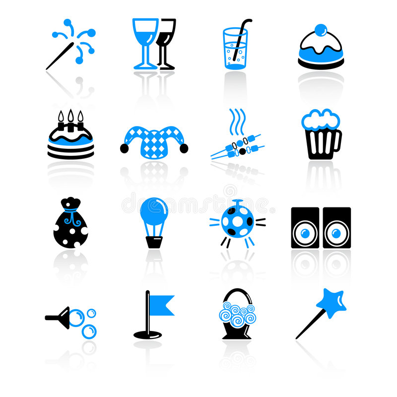 Download Party icons stock vector. Image of biscuit, card, goblet - 8690758