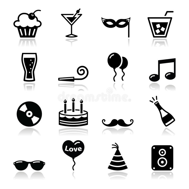 Download Party Icons Set - Birthday, New Year's, Christmas Stock Illustration - Image: 27406611