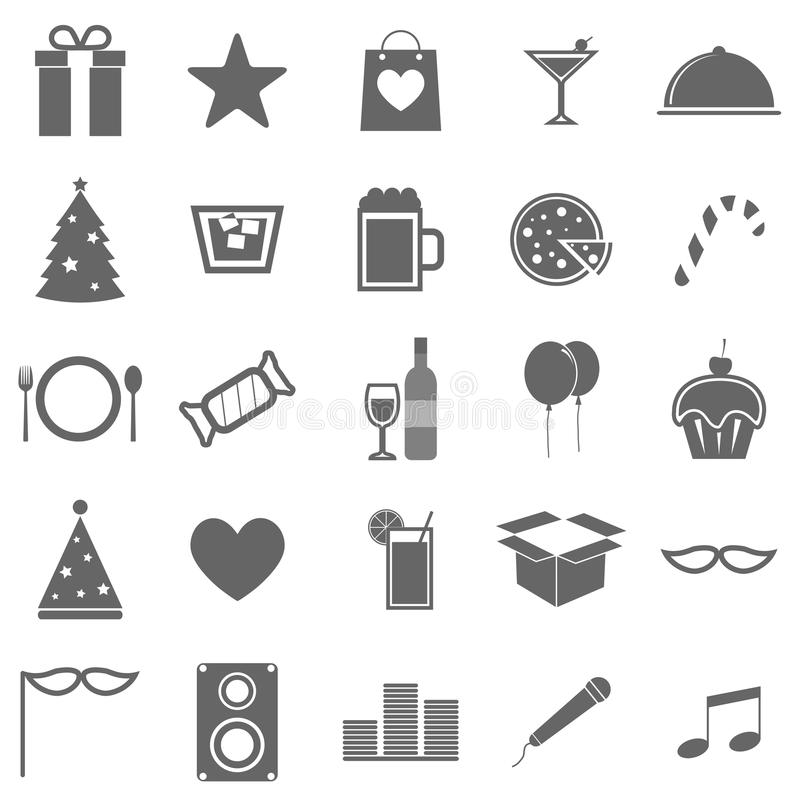 Download Party Icons On White Background Stock Vector - Image: 33862816