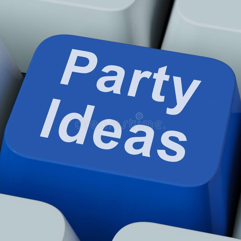 Party Ideas Key Shows Celebration Stock Photo
