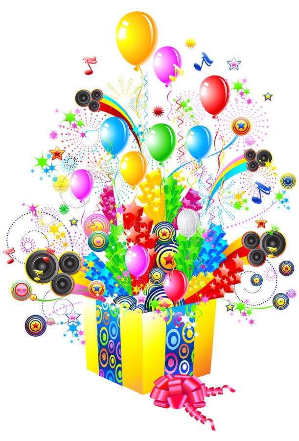 Party illustration stock images