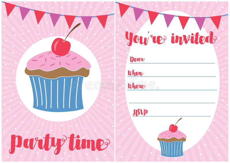 Party invitation stock image