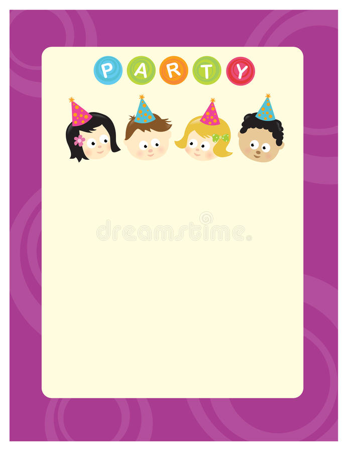 Free Party Kids 8.5x11 Flyer Stock Image - 12786751