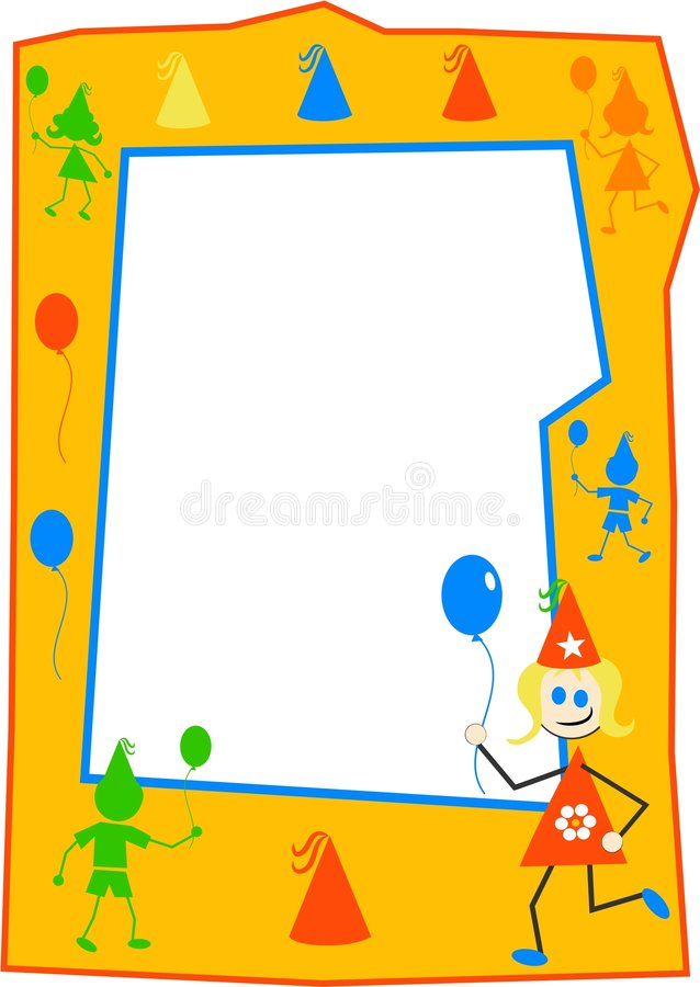 Party Kids Border vector illustration