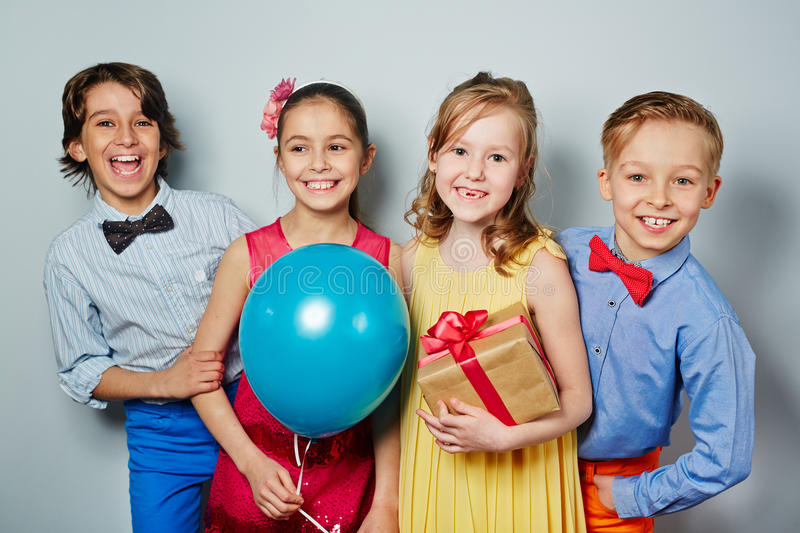 Party of kids stock images