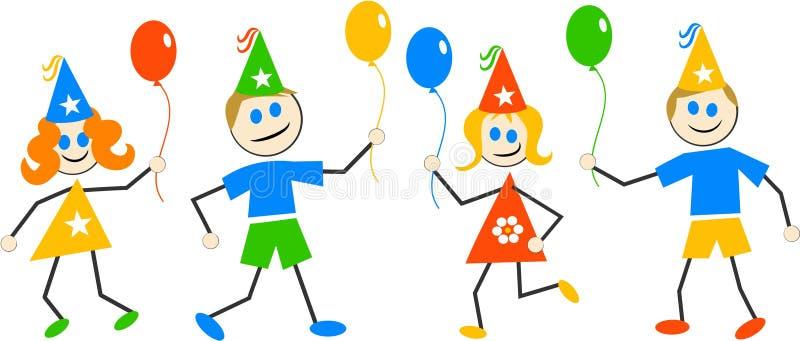Party Kinder lizenzfreie abbildung