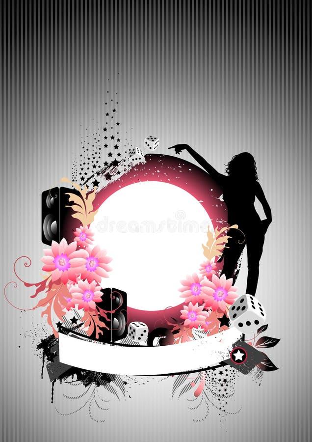 Party la grunge florale illustration libre de droits