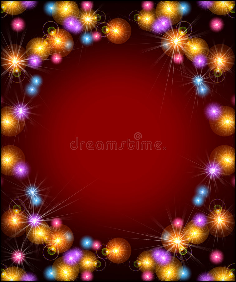 Party lights background stock images