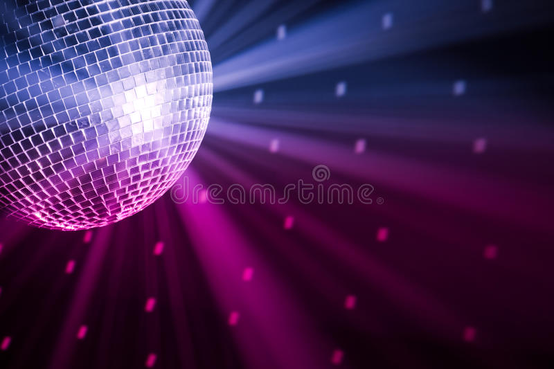 Party lights disco ball stock photo