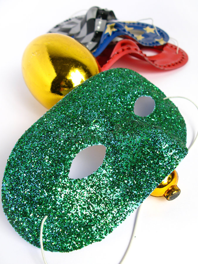 Free Party Masks And A Maraca Stock Images - 4661304
