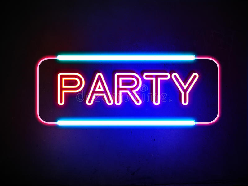 Party Neon Sign Stock Illustration Illustration Of Disco