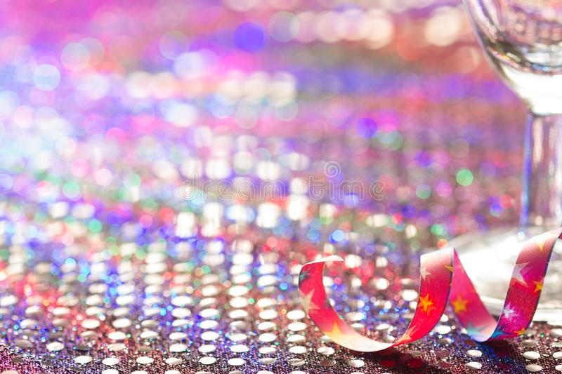Party new year carnival birthday abstract blurred background in night royalty free stock photo
