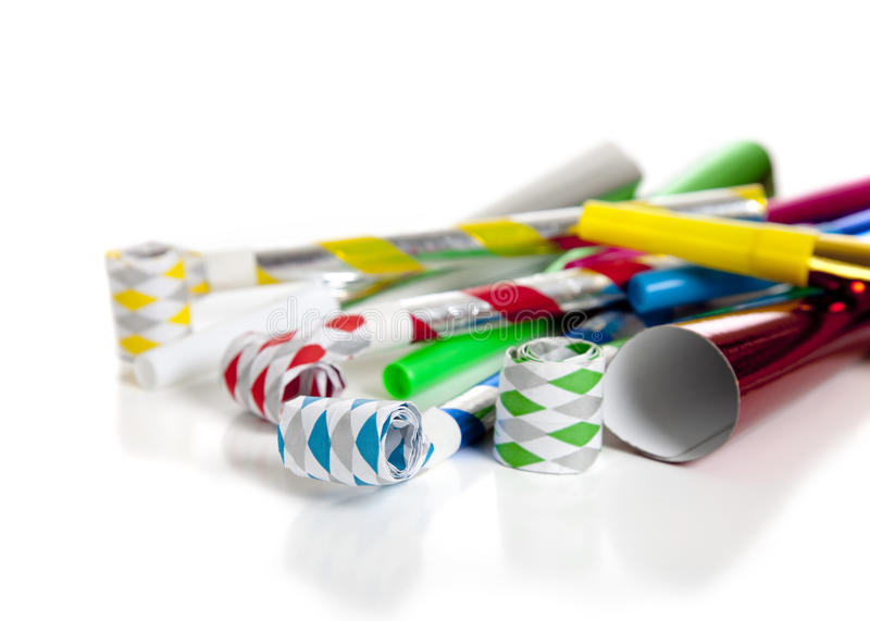 Download Party Noise Makers On White Stock Photo - Image: 10704914