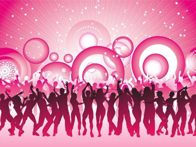 Party o tempo ilustração royalty free