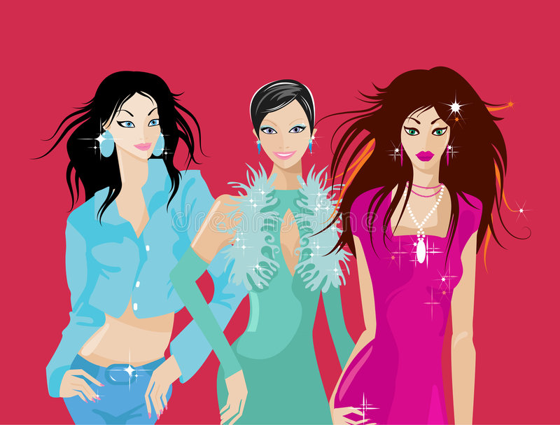 Download Party people stock illustration. Illustration of attractive - 3806486