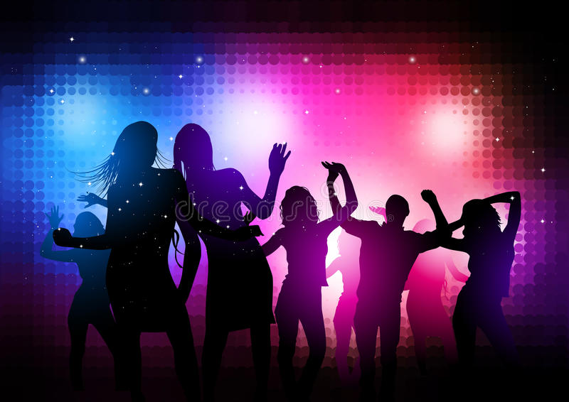 Party People Background stock illustration