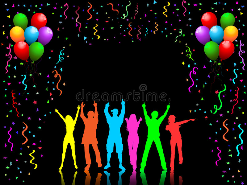 Party people dancing royalty free illustration