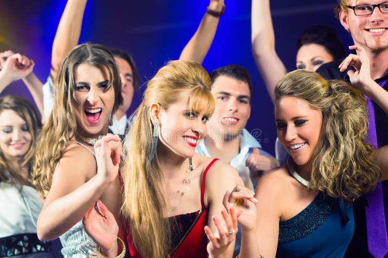 Download Party People Dancing In Disco Club Stock Image - Image: 26869027