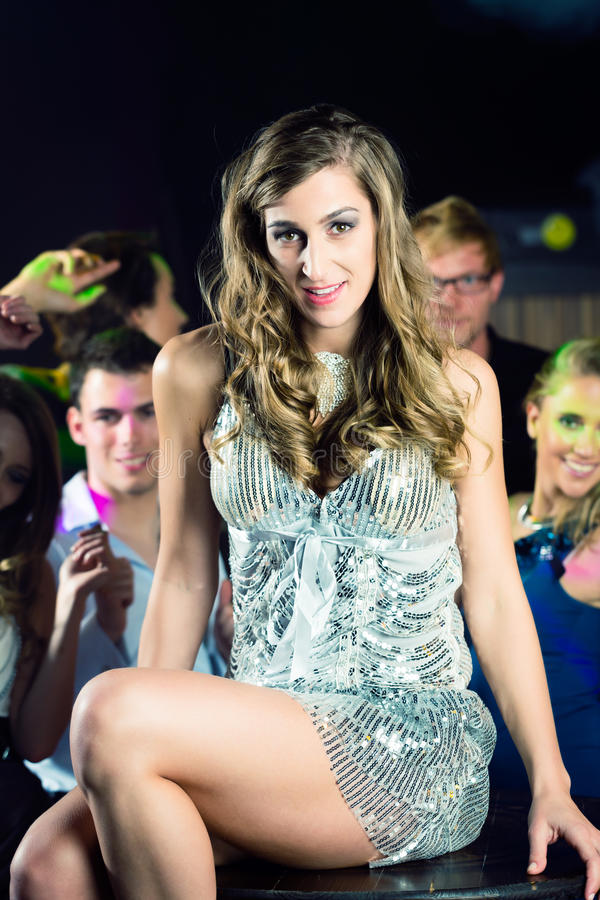 Download Party People Dancing In Disco Or Club Stock Image - Image of glamor, beauty: 26869135