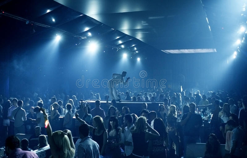 Party people in the nightclub royalty free stock images