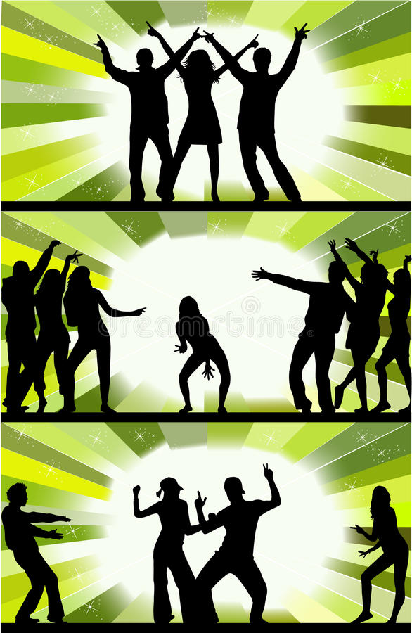 Download Party peoples stock vector. Image of black, events, friends - 13684353